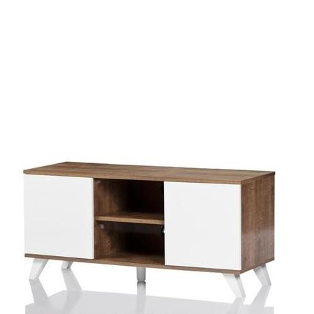 "UK-CF Seville Oak White TV Stand for up to 52"" TVs"
