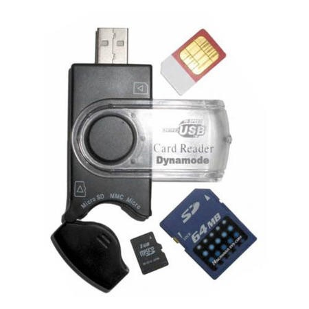 USB-CR-31 DYNAMODE USB 2 slot sim card reader