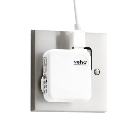 Veho White Mains USB Charger for iPod/ iPhone/ iPad