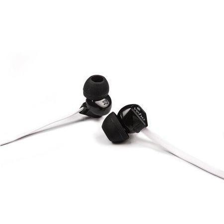 Veho VEP-003-360Z1-K 360 Z-1 Noise Isolating Stereo Earphones with Flat Flex Anti Tangle Cord - Blac & White