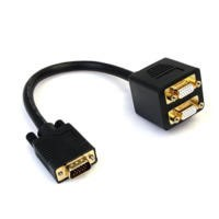 StarTech.com 1 ft VGA to 2x VGA Video Splitter Cable – M/F
