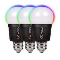 Veho Kasa Bluetooth Smart Lighting LED Screw Cap E27 Bulb Triple Pack