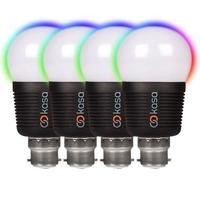 Veho Kasa Bluetooth Smart Lighting LED Bayonet Cap B22 Bulb Quad Pack