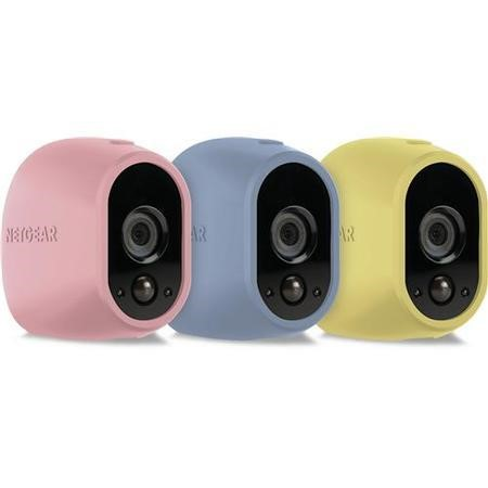 Netgear Arlo Wire-Free Camera Skin Pack in Blue Yellow & Pink