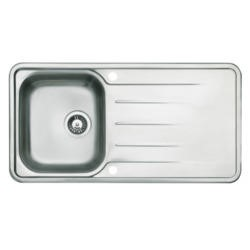 Astracast TP10XXHOMESK Topaz Single Bowl Reversible Drainer Polished Stainless Steel Sink