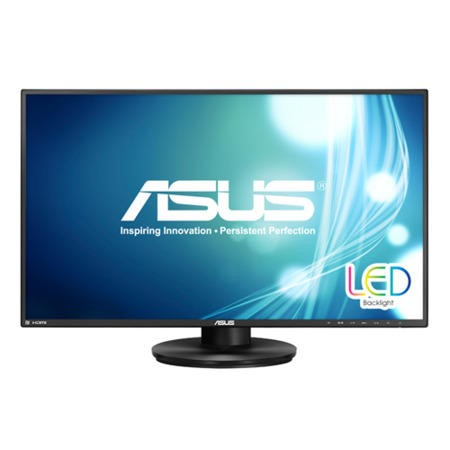 "GRADE A1 - As new but box opened - Asus VN279QLB 27"" LED 1920 X 1080 5MS VGA DISPLAY PORT HDMI MHL SWIVEL PIVOT HEIGHT ADJUST SPEAKERS VESA BLACK Monitor"