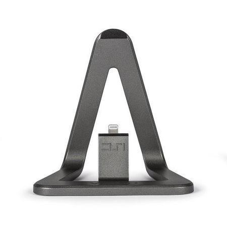 Veho DS-1 Charge and Sync Docking Station for iPhone with 1.5m Lightning Cable - Aluminium Grey