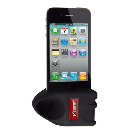 VIBE Slick-Rok Passive Amplifier Dock for iPhone 4/4S - Black