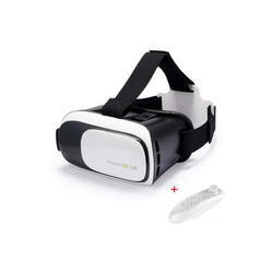 Virtual Reality Adjustable 3D Headset for Smartphones + Remote Control