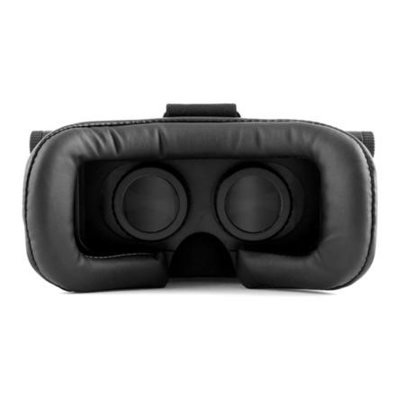 Virtual Reality Adjustable 3D Headset for Smartphones + Remote Control - Black
