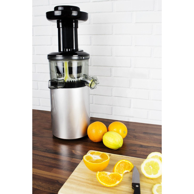 electriQ Premium Cold Press Vertical 150W Slow Juicer Silver
