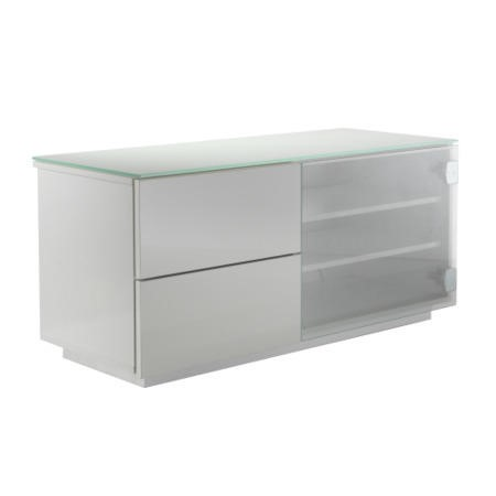 UKCF Paris Gloss White and white TV Cabinet - Up to 42 Inch