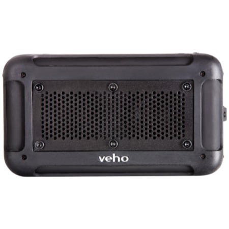 Veho Water Resistant speaker with integrated phone/tablet charger - Black