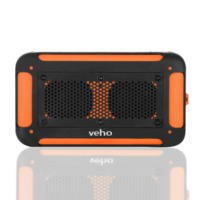 Veho Vecto Wireless Water Resistant speaker with phone/tablet charger- Sports Orange