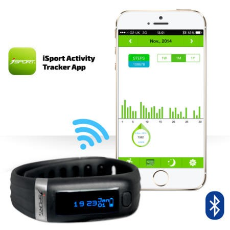 Bluetooth Health Wrist band  - Fitness and Sleep Tracker
