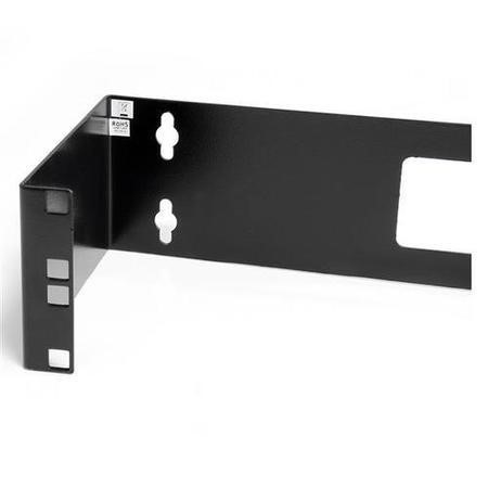2U 19in Hinged Wall Mount Bracket for Patch Panels