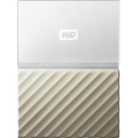 "Western Digital My Passport Ultra 2TB 2.5"" USB 3.0 External Hard Drive in White & Gold"