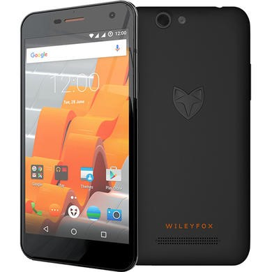 GRADE A1 - As new but box opened - WileyFox Spark Black 5 Inch  8GB 4G Unlocked & SIM Free