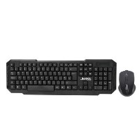 Wireless Keyboard & Mouse in Black