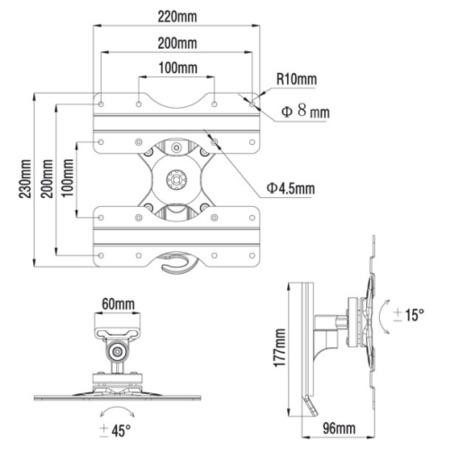 Titan WTS2 Tilting Wall Bracket - Up to 40 Inch