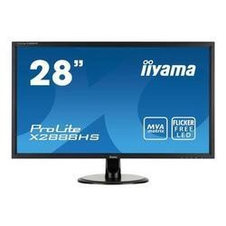 "Iiyama 28"" Black Full HD LED Monitor1920 x 1080 2 x 3W Speakers Height adjustable VGA / DVI / HDMI / DisplayPort"