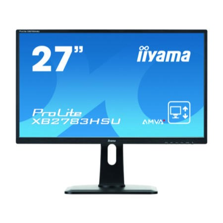 "GRADE A1 - As new but box opened - Iiyama 27"" LCD LED Height Adjustable Monitor Full HD 1920 x 1080 16_9 Black Bezel 2 x 2W Built-In Speakers VGA DVI-D HDMI Monitor"