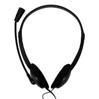 Home & Office Noise Cancelling Stereo Head Set with Microphone 3.5mm Jack - Black