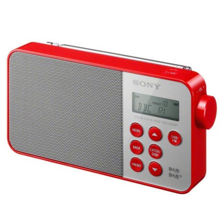 Sony XDR-S40D Portable DAB Radio - Red
