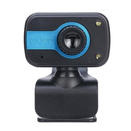 USB Webcam with Built in Microphone in Blue