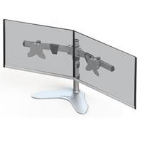 "Xtrfy ST2 Monitor Stand for 2 Monitors - 15"" to 24"" in Silver"