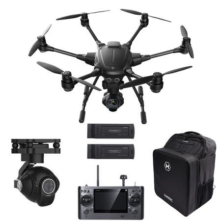 Yuneec Typhoon H Pro with CGOET Thermal + CGO3 4K cameras + Two Batteries & Softshell Backpack