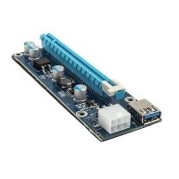 Kolink PCI-E 1x to 16x powered Riser Card Mining Rendering Kit Pro - 1m