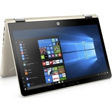 a1/2QE61EA Refurbished HP Pavilion x360 14-ba048sa Core i3-7100U 4GB 128GB 14 Inch Windows 10 Touchscreen Convertible Laptop in Gold