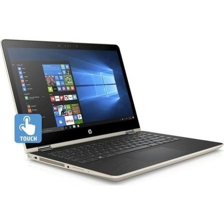 Refurbished HP Pavilion x360 14-ba048sa Core i3-7100U 4GB 128GB 14 Inch Windows 10 Touchscreen Convertible Laptop in Gold