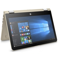 "Refurbished HP Pavilion x360 13.3"" Intel Core i5-7200U 8GB 128GB SSD Windows 10 Touchscreen Convertible Laptop in Gold"