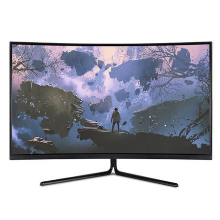 "Refurbished electriQ 31.5"" 4K UHD HDR 60Hz Curved Monitor"
