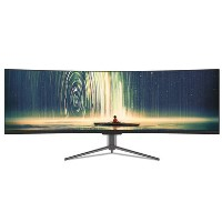 "electriQ 43"" QLED Super UltraWide 120hz HDR600 Curved Monitor"