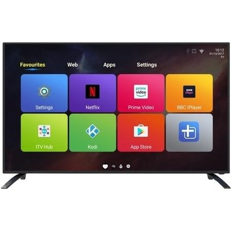 "eiq-49UHDT2SM electriQ 49"" 4K Ultra HD LED Android Smart TV with Freeview HD"
