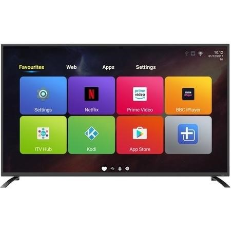 "eiq-65UHDT2SM electriQ 65"" 4K Ultra HD LED Android Smart TV with Freeview HD"