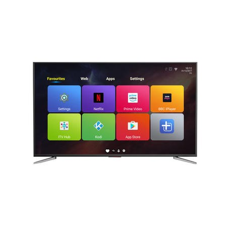 "eiq-75UHDT2SM electriQ 75"" 4K Ultra HD LED Android Smart TV with Freeview HD - Silver"