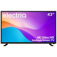 "electriQ 43"" 4K Ultra HD LED Smart TV with Android and Freeview HD"