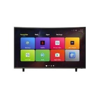 "GRADE A1 - electriQ 65"" Curved 4K Ultra HD LED Smart TV with Android and Freeview HD"