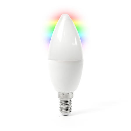 iQ-wifiBulbE14 electriQ Smart dimmable colour Wifi Bulb with E14 screw ending - Alexa & Google Home compatible