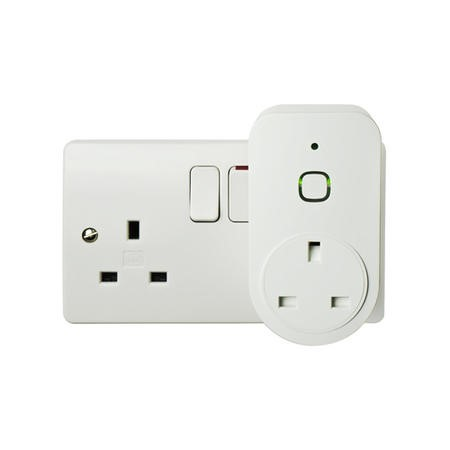 electriQ Smart Wi-Fi plug with power meter - Alexa/Google Home compatible - Triple Pack