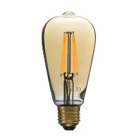 electriQ ST64 Smart dimmable Wifi filament bulb with E27 screw fitting - Smoked Amber finish
