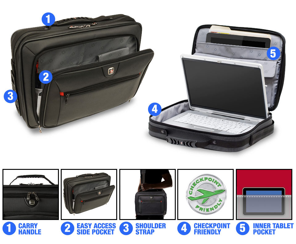 Wenger 15 6 Quot Insight Laptop Bag Black Laptops Direct