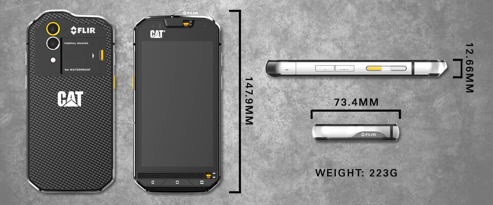 cat s60 thermal imaging rugged smartphone black 4 7 32gb 4g unlocked sim free laptops direct. Black Bedroom Furniture Sets. Home Design Ideas