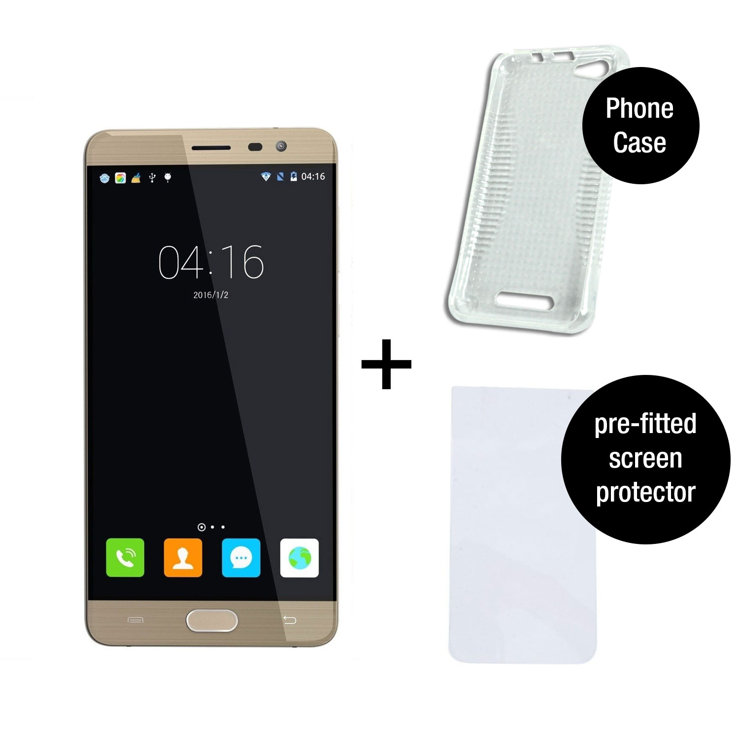 Core android 4 1 mobile phone smartphone unlocked touch white ebay - Cubot Cheetah 2 Gold 5 5