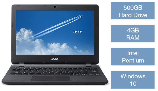 Acer TravelMate laptop 500GB Hard drive