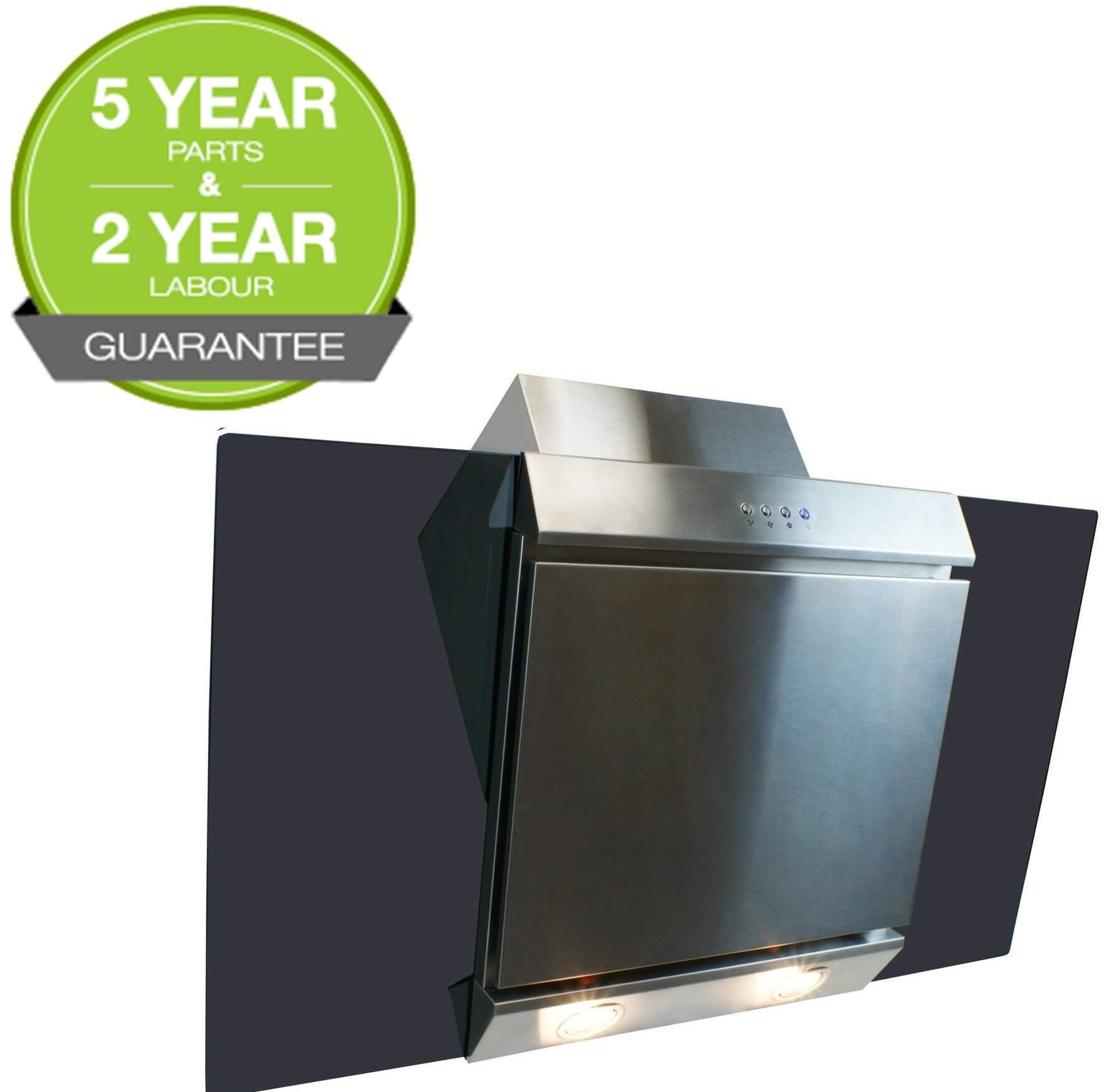 cooker hood 90cm angled extractor chimney hood glass. Black Bedroom Furniture Sets. Home Design Ideas